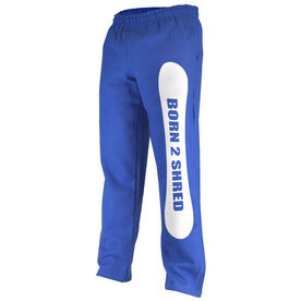 Snowboarding Fleece Sweatpants Born 2 Shred
