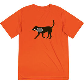 Tennis Short Sleeve Performance Tee - Tanner the Tennis Dog
