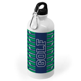 Golf 20 oz. Stainless Steel Water Bottle - Word With Stripes