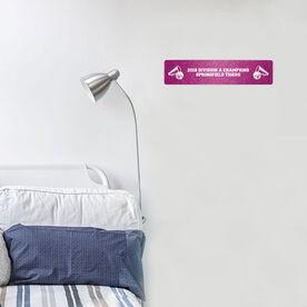 "Cheerleading Aluminum Room Sign - Your text Cheerleading (4""x18"")"