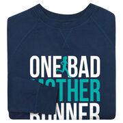 Running Raglan Crew Neck Sweatshirt - One Bad Mother Runner (Bold)