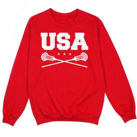 Guys Lacrosse Crew Neck Sweatshirt - USA Lacrosse