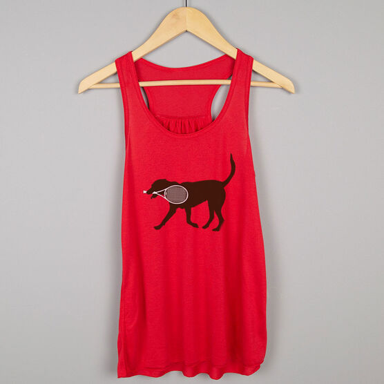 Tennis Flowy Racerback Tank Top - Tanner the Tennis Dog