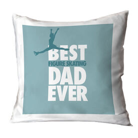 Figure Skating Throw Pillow Best Dad Ever