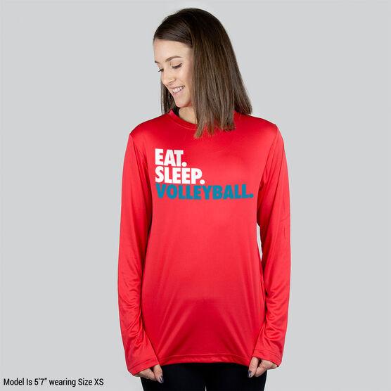 Volleyball Long Sleeve Performance Tee - Eat. Sleep. Volleyball.