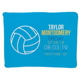 Volleyball Baby Blanket - Birth Announcement