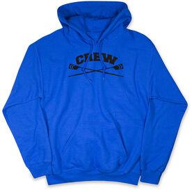 Crew Hooded Sweatshirt - Crew Crossed Oars Banner