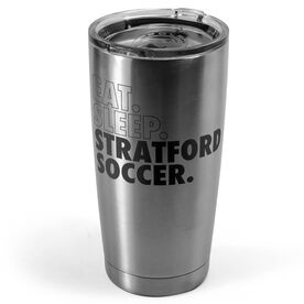 Soccer 20 oz. Double Insulated Tumbler - Personalized Eat Sleep Soccer