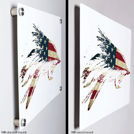 """Fly Fishing 18"""" X 12"""" Aluminum Room Sign - American Lefty"""