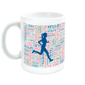 Running Coffee Mug - Inspirational Words Female