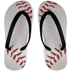 Baseball Flip Flops Two Seam
