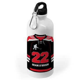 Hockey 20 oz. Stainless Steel Water Bottle - Personalized Hockey Jersey