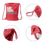 Wrestling Sport Pack Cinch Sack Eat Sleep Wrestle (Stack)