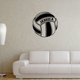 Volleyball Wall Decal Personalized Volleyball Ball