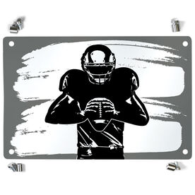 Football Metal Wall Art Panel - Ready For Anything