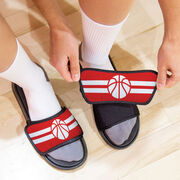 Basketball Repwell® Slide Sandals - Team Color Stripes