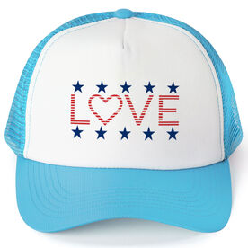 Trucker Hat - Stars & Stripes Love