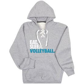 Volleyball Sport Lace Sweatshirt Eat. Sleep. Volleyball.