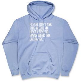Lacrosse Hooded Sweatshirt - All Weekend Lacrosse