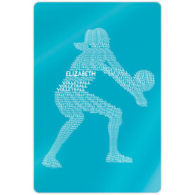 """Volleyball 18"""" X 12"""" Aluminum Room Sign - Personalized Volleyball Player Words"""