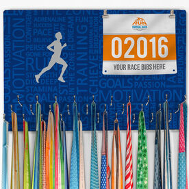 Running Large Hooked on Medals and Bib Hanger - Inspiration Male