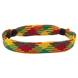 Hockey Lace Bracelet Rasta Adjustable Wrister Bracelet