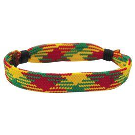 Hockey Lace Bracelet Rasta Adjustable Wrister Bracelet