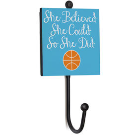 Basketball Medal Hook - She Believed She Could So She Did