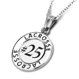 Lacrosse Circle Necklace Your Number