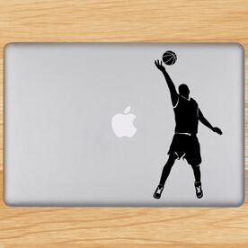 Basketball Guy Reaching Silhouette Removable ChalkTalkGraphix Laptop Decal