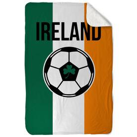 Soccer Sherpa Fleece Blanket - Ireland Soccer
