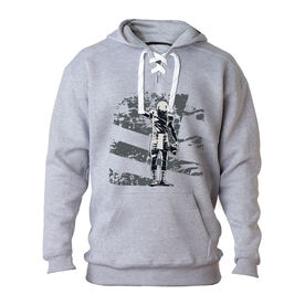 Football Sport Lace Sweatshirt Number One Player