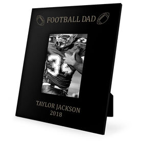 Football Engraved Picture Frame - Football Dad