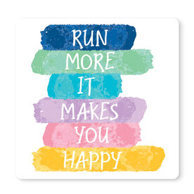 """Running 12"""" X 12"""" Removable Wall Tile - Run More It Makes You Happy"""