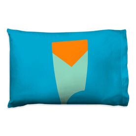 Crew Pillowcase - Custom Oar Colors V Stripe