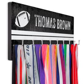 Football Hook Board Personalized Football Grunge