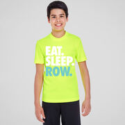 Crew Short Sleeve Performance Tee - Eat. Sleep. Row.