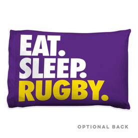 Rugby Pillowcase - Eat Sleep Rugby
