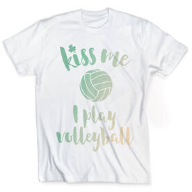 Vintage Volleyball T-Shirt - Kiss Me I Play Volleyball