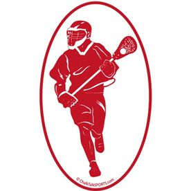 Fast Break Lacrosse Oval Car Magnet (Red)