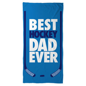 Hockey Beach Towel Best Dad Ever