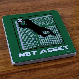Soccer Net Asset - Stone Coaster