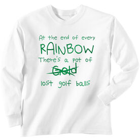 Golf TShirt Long Sleeve At The End Of The Rainbow