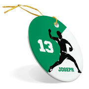 Baseball Porcelain Ornament Personalized Two Color Pitcher