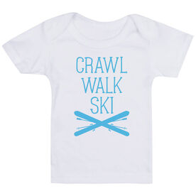 Skiing Baby T-Shirt - Crawl Walk Ski