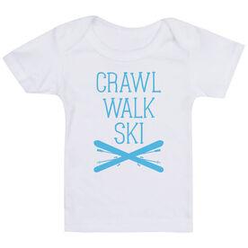 Skiing Baby T-Shirt - Crawl Walk Ski