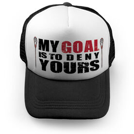 Guys Lacrosse Trucker Hat My Goal Is To Deny Yours