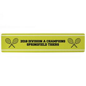 "Tennis Aluminum Room Sign - Your Text Tennis (4""x18"")"