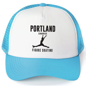 Figure Skating Trucker Hat - Team Name With Text