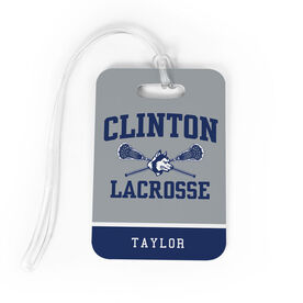 Lacrosse Bag/Luggage Tag - Clinton Lacrosse Logo with Name